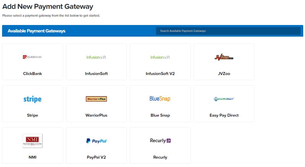 List of ClickFunnels Ppayment Gateways